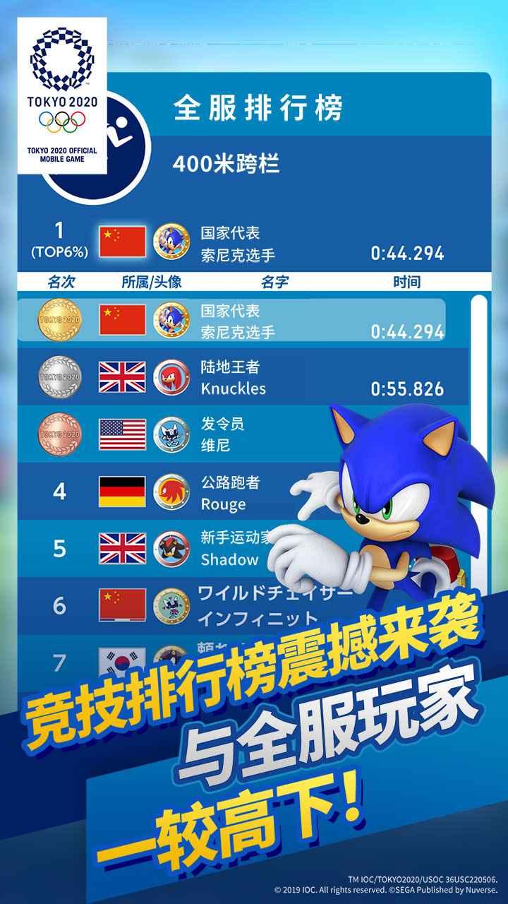 索尼克在2020东京奥运会截图4